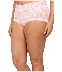 Hanky Panky Plus Size Signature Lace Solid New Boyshort Bliss Pink Women's Underwear