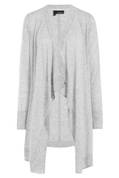 The Kooples Draped Front Cardigan Grey