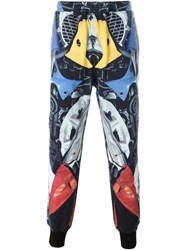 Ktz Abstract Print Cuffed Trousers Multicolour
