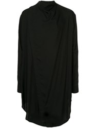 Julius Oversized Plain Shirt Black