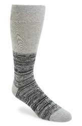 Calibrate Men's 'Marled Colorblock' Socks Light Grey Heather