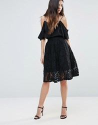 Minimum Lace Midi Skirt Black