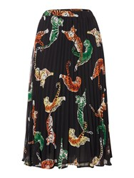 Biba Geo Tiger Printed Skirt Multi Coloured Multi Coloured