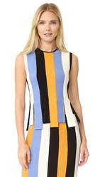 Salvatore Ferragamo Sleeveless Top Gold Blue