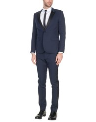 Saint Laurent Suits Dark Blue