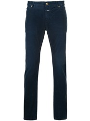 Closed Corduroy Skinny Trousers Cotton Spandex Elastane Blue