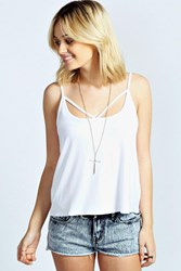 Boohoo Strap Front Swing Vest White