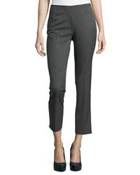 Neiman Marcus Lisa Ankle Dress Pants Grey