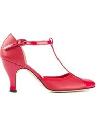 Repetto T Bar Pumps Red