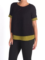 Chesca Textured Top Black Lime