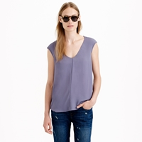 J.Crew Cap Sleeve Shirttail Blouse
