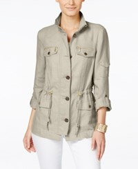 Inc International Concepts Drawstring Waist Anorak Jacket Only At Macy's Frappe