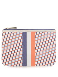 Pierre Hardy Cube Print Coated Canvas Pouch Multi