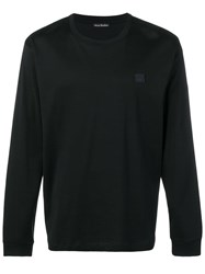 Acne Studios Long Sleeve Crew Neck Black