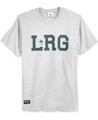 Lrg Men's Graphic Print T Shirt Ash Heathe