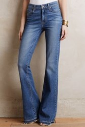 Anthropologie Paige High Rise Bell Canyon Flare Jeans Tinted Denim 24 Pants