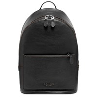 Coach Leather Backpack Black