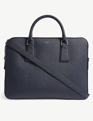 Sandro Downtown Large Saffiano Leather Briefcase Blue Black