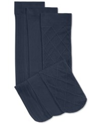 Charter Club Women's 3 Pack Basic Trouser Socks Only At Macy's Navy