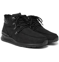 Tod's Shearling Lined Suede Boots Black