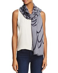 Fraas Two Tone Scroll Scarf Gray