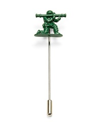 Penguin Toy Soldier Lapel Pin Green