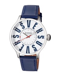Versus By Versace City Round 44Mm Women's Watch Blue