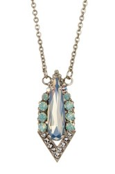 Sorrelli Crystal Point Pendant Necklace Green