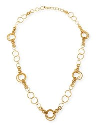 Jose And Maria Barrera 24K Gold Plated Chain Necklace