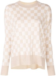 Adam By Adam Lippes Check Print Jumper Neutrals