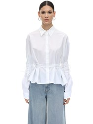 Maison Martin Margiela Oversize Boxy Fit Cotton Shirt White