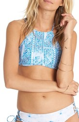 Billabong Women's Santorini Reversible High Neck Bikini Top