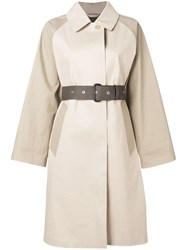 Mackintosh Putty And Fawn Bonded Cotton Oversized Trench Coat Lr Idj01 Idj09 Idj27 Putty X Fawn
