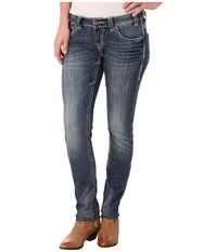 Rock And Roll Cowgirl Low Rise Skinny In Dark Vintage W0s4488 Dark Vintage Women's Jeans Navy