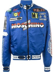 Moschino Racing Bomber Jacket Blue