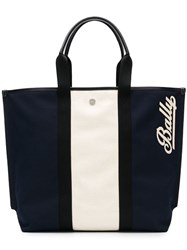 Bally Colourblock Tote Blue