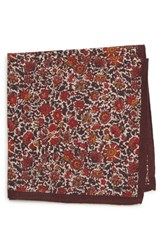 Bonobos Floral Wool Pocket Square Pink
