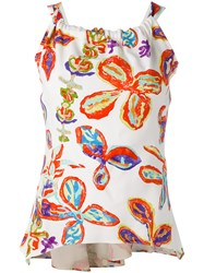 Peter Pilotto Cross Back Tank Top White