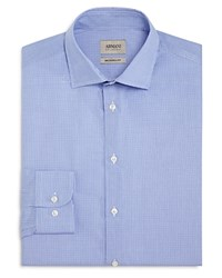 Armani Collezioni Micro Check Classic Fit Dress Shirt Sky