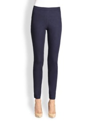St. John Stretch Denim Leggings Indigo