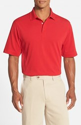 Men's Cutter And Buck 'Championship' Classic Fit Drytec Golf Polo Red