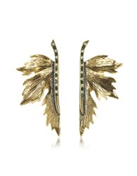 Alcozer And J Nimph Goldtone Brass Earrings