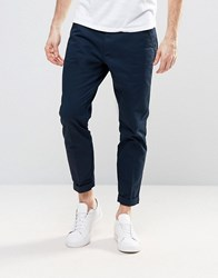 Dr. Denim Dr Rigid Slim Tapered Chino With Turn Up Dark Sapphire Navy