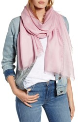 Nordstrom Cashmere And Silk Wrap Pink Carnation
