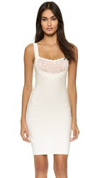 Herve Leger 30Th Anniversary Sibyl Dress Alabaster Combo