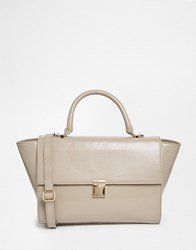 Asos Leather Top Handle Bag Grey