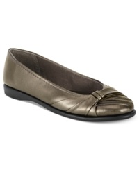 Easy Street Shoes Easy Street Giddy Flats Women's Shoes Pewter