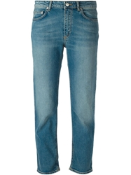 Acne Studios 'Row' Cropped Jeans Blue