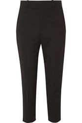 Vince Cropped Crepe Tapered Pants Black