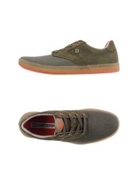 Cat Low Tops And Trainers Military Green